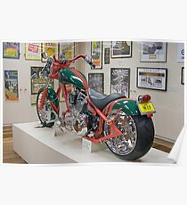 OCC motorcycle in South Sydney colours, Nymboida, NSW, Australia Poster