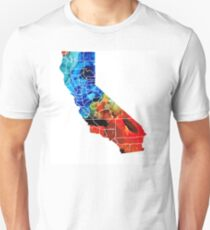 California - Map Counties By Sharon Cummings Unisex T-Shirt
