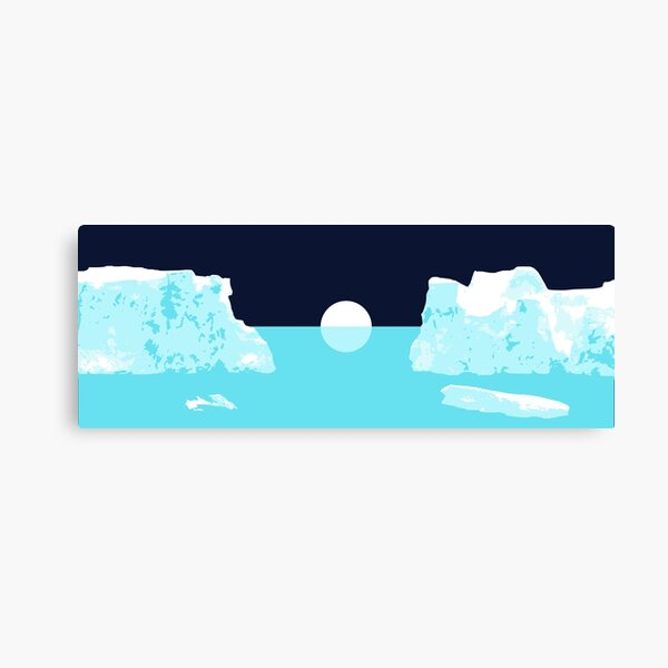 Icebergs and Galaxies: 'Keep It Simple' Edition Canvas Print