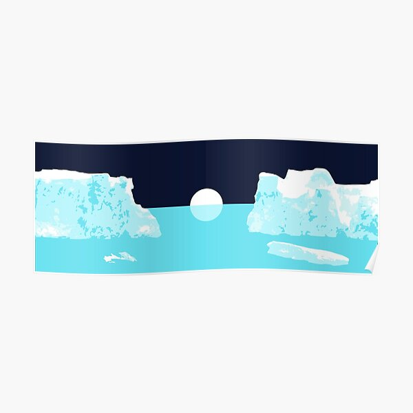 Icebergs and Galaxies: 'Keep It Simple' Edition Poster