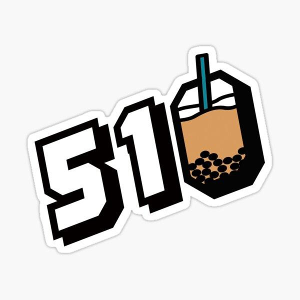 510 Boba  Sticker