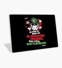 VeganChic ~ Slaughterhouses & Battlefields Laptop Skin