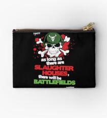 VeganChic ~ Slaughterhouses & Battlefields Zipper Pouch
