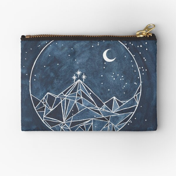 noche de luna y estrellas de la corte Bolsos de mano