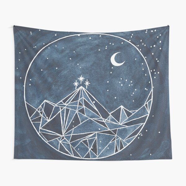 night court moon and stars Tapestry