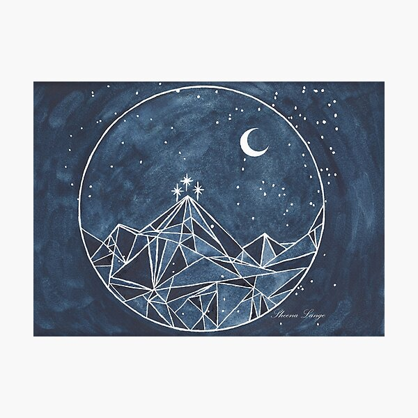 night court moon and stars Photographic Print