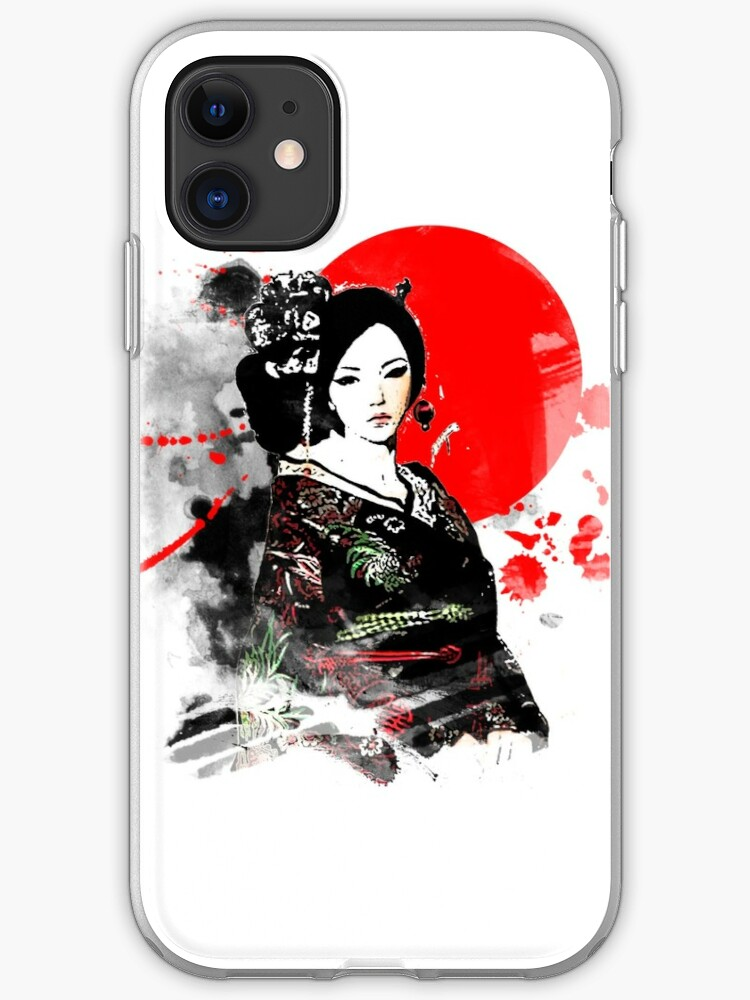 Japanese Geisha iphone case