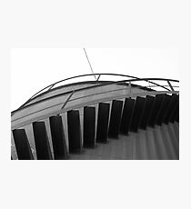metal cistern's stairs  Photographic Print