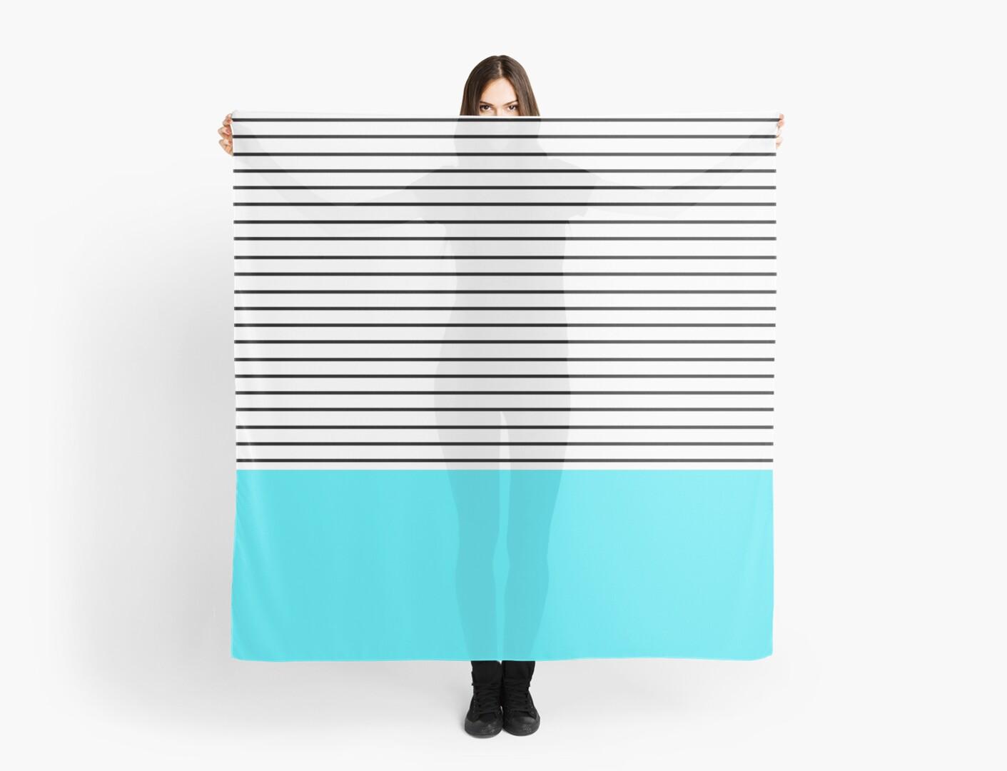 Minimal Blue Stripes by allysonjohnson