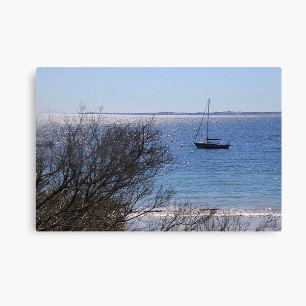 Boat by Flinder's Pier Canvas Print