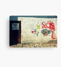 Peace Love & Sponge Bob Canvas Print