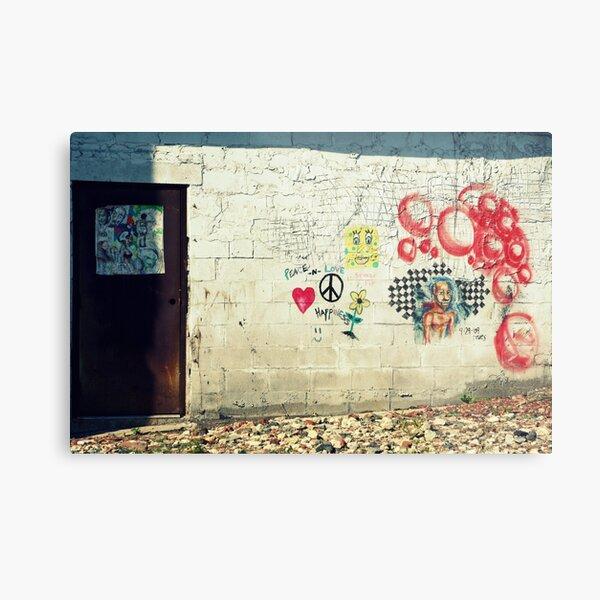 Peace Love & Sponge Bob Metal Print