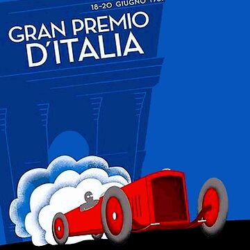 GRAN PREMIO ITALIA ; Vintage Auto Racing Print by posterbobs