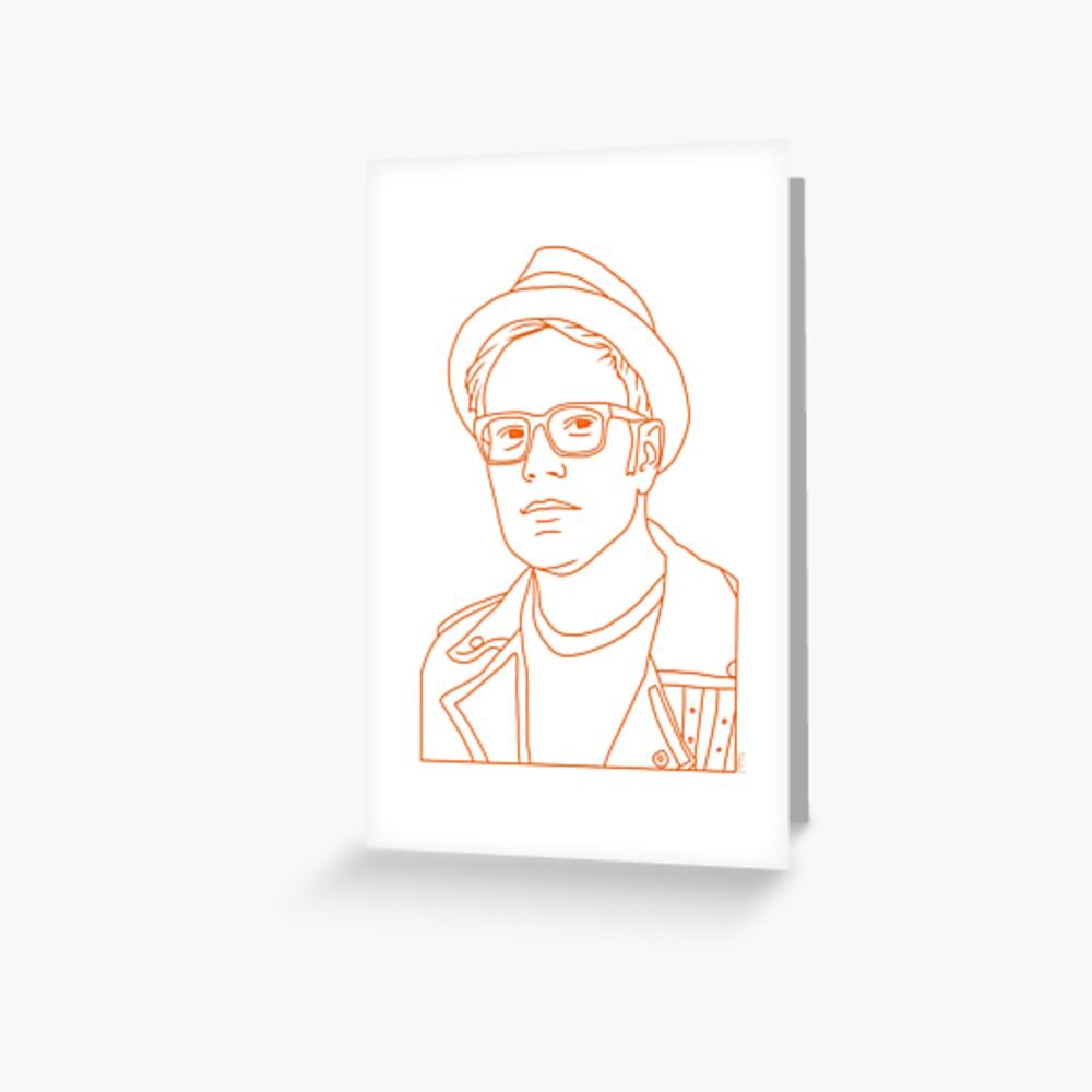 Patrick Stump von Fall Out Boy Grußkarte