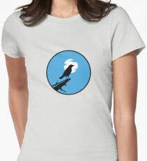 The Crow (blue sky) Womens Fitted T-Shirt