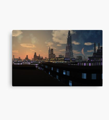 And the Worlds will be as One Canvas Print