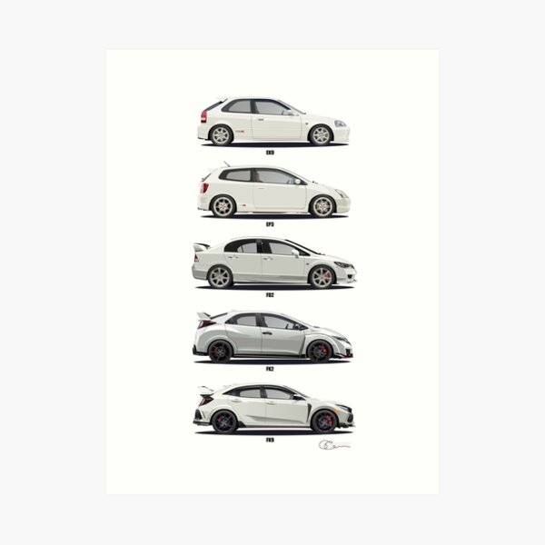 Honda Civic Type R Art Print