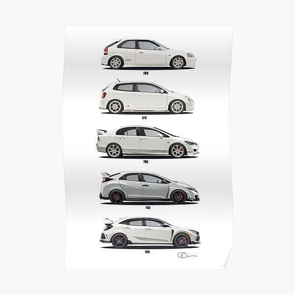Honda Civic Type R Poster
