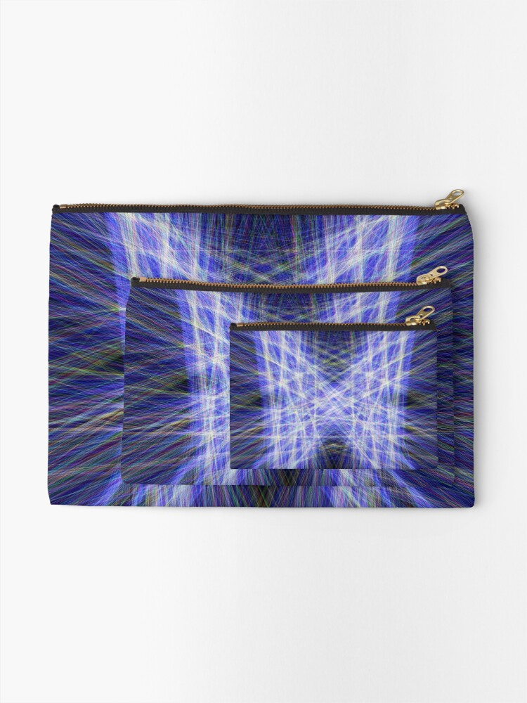 Alternate view of Laser Butterfly Zipper Pouch