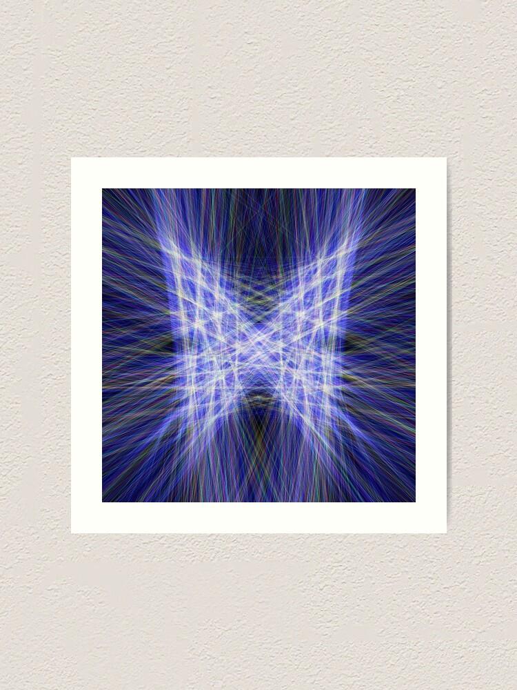 Alternate view of Laser Butterfly Art Print