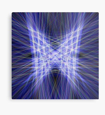 Laser Butterfly Metal Print
