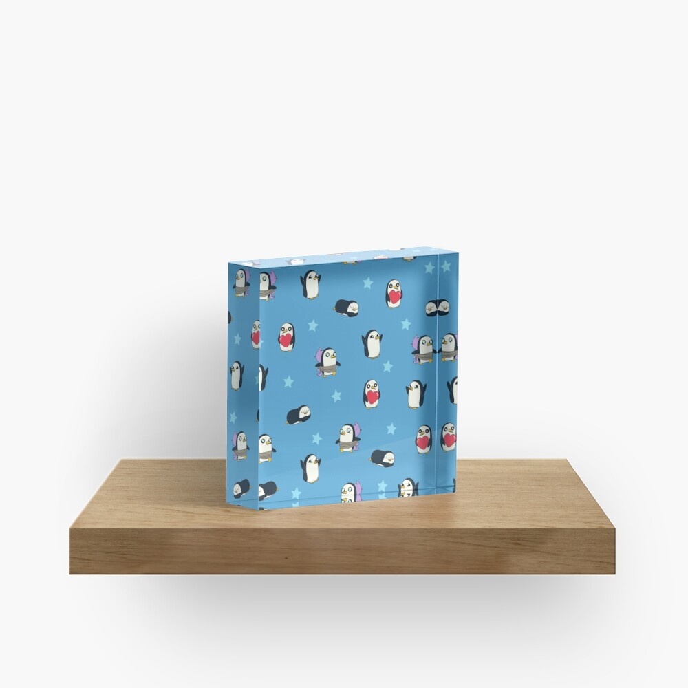 Gunter Pattern (Blue) Acrylic Block