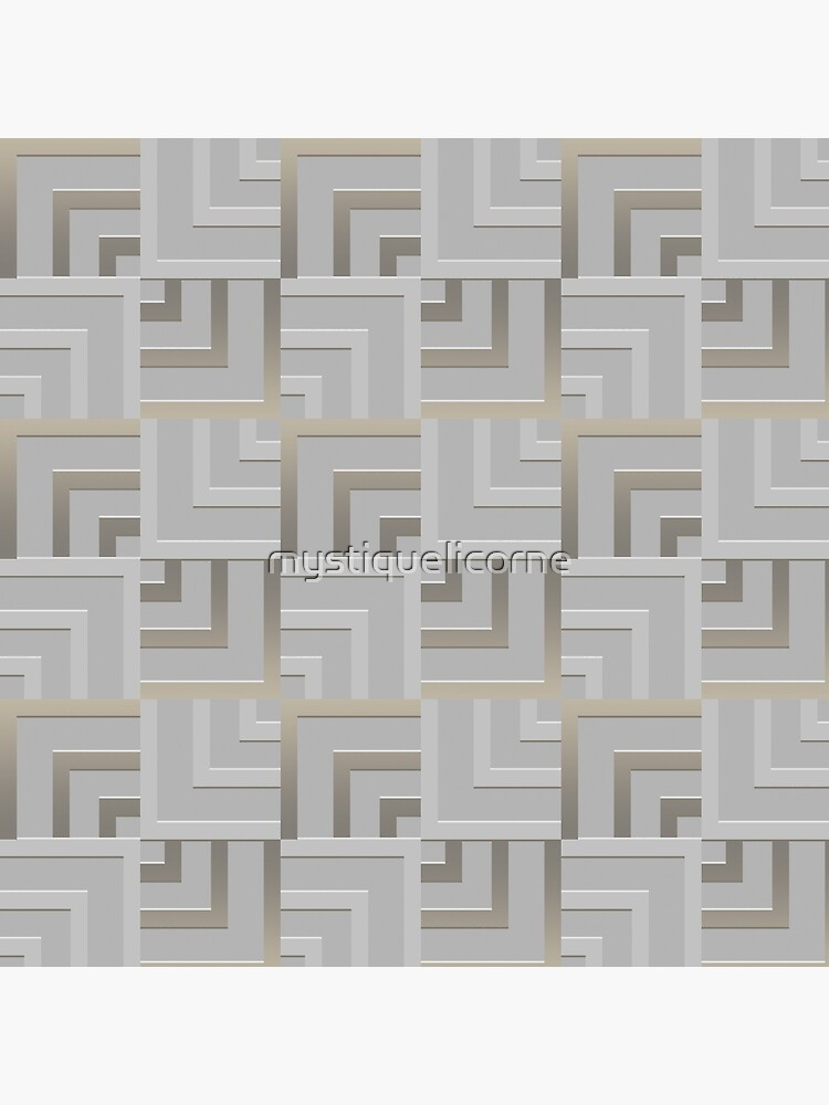 Bronze and Silver Squares by mystiquelicorne