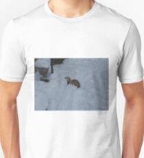 Ferret on a winterday Unisex T-Shirt