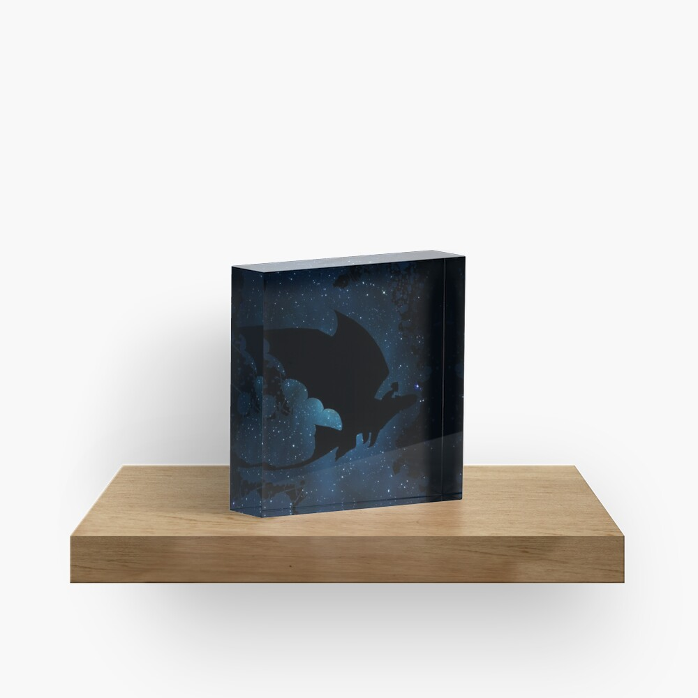 How to train your dragon - Toothless and Hiccup night Acrylic Block