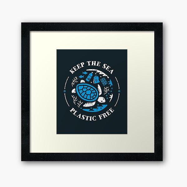 Keep the Sea Plastic Free Marine Scene Framed Art Print