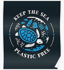 Keep the Sea Plastic Free Marine Scene Poster
