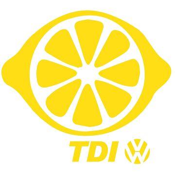VW TDI Lemon Slice Yellow by parodywagon
