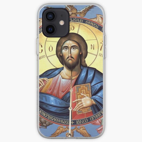 Christ Pantocrator in the Orthodox Church of St. Alexander Nevsky, Belgrade iPhone Soft Case