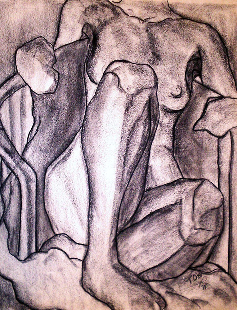 NUDE FIGURE DRAWING 3 by Tammera