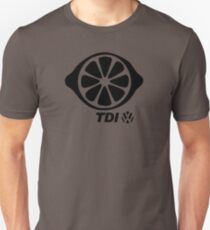VW TDI Lemon Slice Black T-Shirt