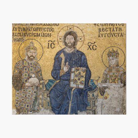 Jesus Christ Pantocrato mosaic in Hagia Sophia, Istanbul Art Board Print