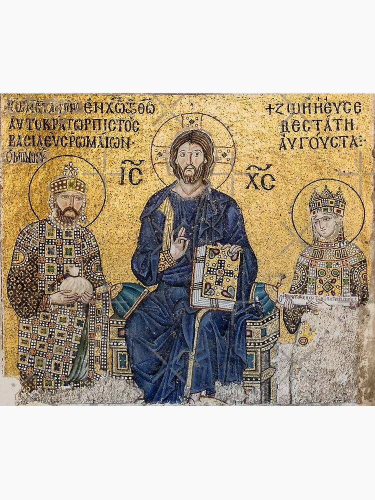 Jesus Christ Pantocrato mosaic in Hagia Sophia, Istanbul by koo17leon