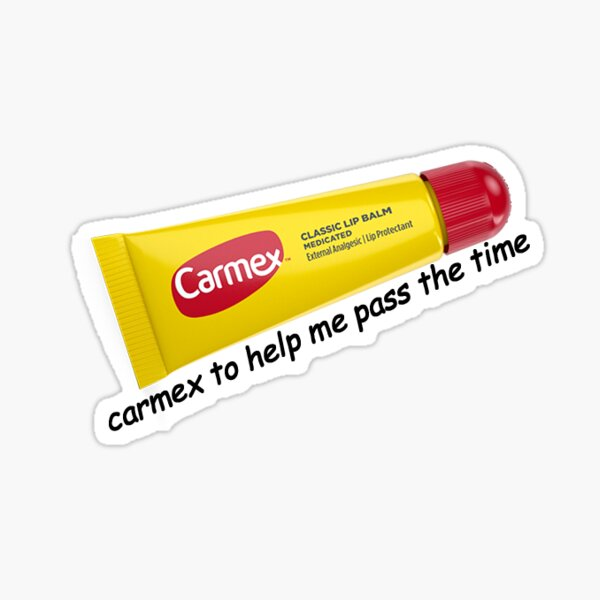 Carmex To Help Me Pass The Time Sticker Sticker