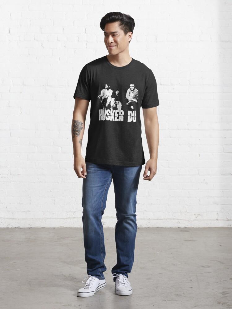 Alternate view of Husker Du - The White Stencil Essential T-Shirt