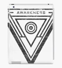 Awareness - Typography and Geometry iPad Case/Skin