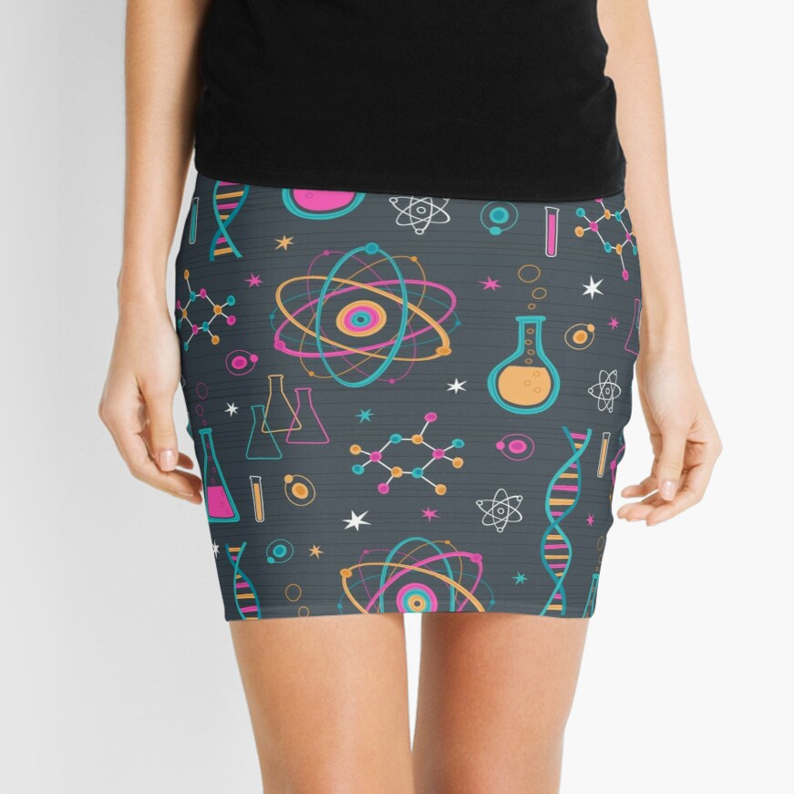 Midcentury Modern Science Mini Skirt