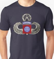82nd Airborne Division Patch with Jumpwings. Unisex T-Shirt