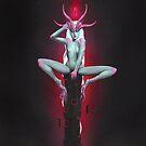 Neon Devil   Digital Illustration by Anthony James Rich