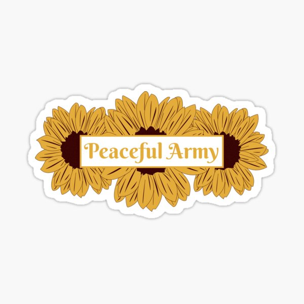 Sunflower Peaceful Army Sticker