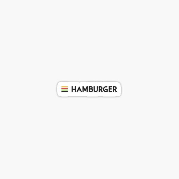 Hamburger Wordmark Sticker