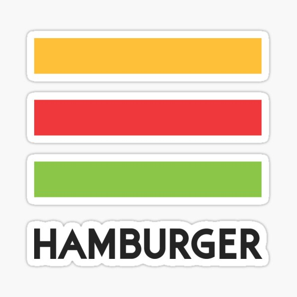 Hamburger Creative Logo - Stacked Sticker