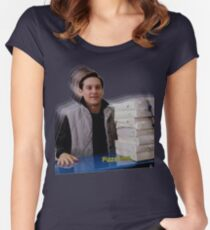 Pizza time! Women's Fitted Scoop T-Shirt