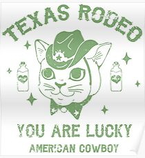 Rodeo Kitty Poster
