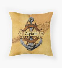 Key West Captain Throw Pillow