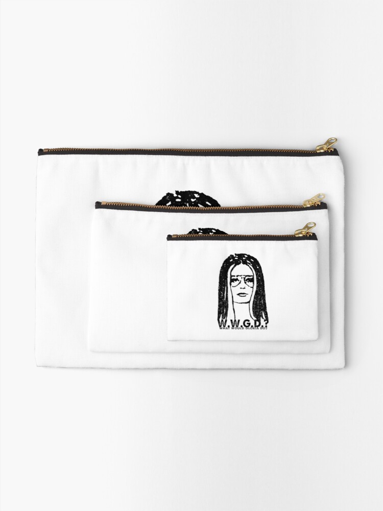 Alternate view of W.W.G.D.?: WHAT WOULD GLORIA DO? Zipper Pouch